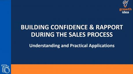 Building Confidence & Rapport In Sales